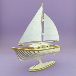 Tekturka 3D do rękodzieła - Jacht