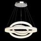 Nowoczesna lampa wisząca trzy ringi led białe, matowe regenbogen hi-tech 661011603
