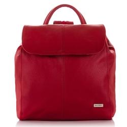 Modny czerwony plecaczek damski paolo peruzzi b-18-rd