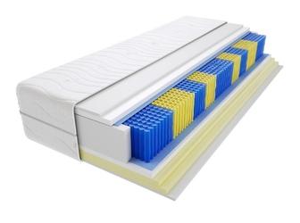 Materac kieszeniowy zefir multipocket 190x210 cm miękki  średnio twardy 2x visco memory