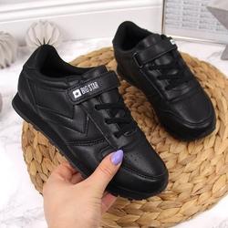 Buty sportowe dziecięce na rzep czarne big star gg374059 - czarny