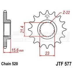 Zębatka przednia jt f577-14, 14z, rozmiar 520 2200531 yamaha xtz 660
