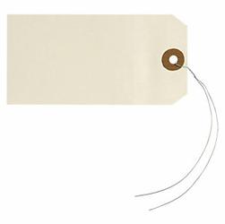Przywieszki kartonowe kremowe z drucikiem 80x38mm 1000 szt