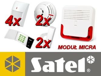 Alarm satel micra led, 4xmpd-300, 2xmfd-300, 2xmsd-300, syg. zew. sd-6000 - szybka dostawa lub możliwość odbioru w 39 miastach