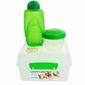Lunchbox Kostka Max 2l i Butelka, 385 ml, zielony, Sistema