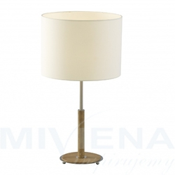 Nevada lampa stołowa 1 chrom dąb