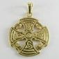 Krzyż celtycki 3 - pozłacany