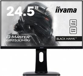 Iiyama monitor 24,5 gb2530hsu-b1 1ms,hdmi,dp,usb,pivot, freesync,flicker