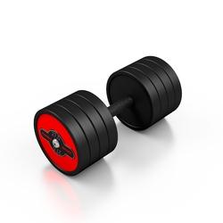 Hantla stalowa gumowana 27,5 kg czerwony połysk - marbo sport - 27,5 kg