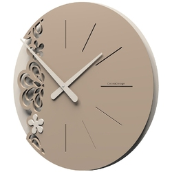 Zegar ścienny merletto duży calleadesign aluminium  szary 56-10-2-2