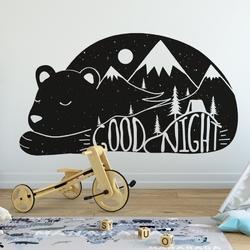 Naklejka na ścianę - good night bear , wymiary naklejki - szer. 60cm x wys. 40cm