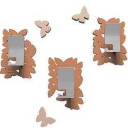 Wieszaki ścienne dekoracyjne Butterflies CalleaDesign jasnobrązowe 50-13-4-23