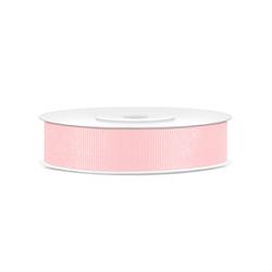 Rypsowa tasiemka 15mm25 m - różowy jasny - różowy jasny