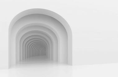 Głębia wnętrza - fototapeta