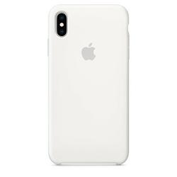 Apple Etui silikonowe iPhone XS Max - białe