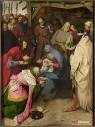 pokłon trzech króli ii - pieter brueghel starszy ; obraz - reprodukcja