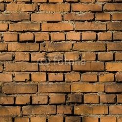 Obraz na płótnie canvas czteroczęściowy tetraptyk czerwony mur z cegły