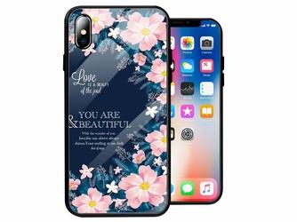 Etui Alogy Glass Armor Case do Apple iPhone XS Max Kwiaty - Kwiaty