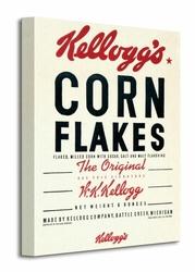 Vintage Kelloggs Corn Flakes - Obraz na płótnie