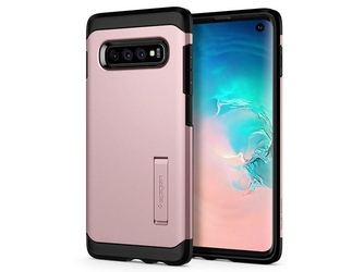 Etui spigen tough armor samsung galaxy s10 rose gold - różowy