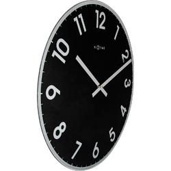 Zegar ścienny reflect czarny nextime 43 cm 8190 zw
