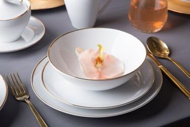 Zestaw obiadowy dla 6 osób porcelana mariapaula moderna gold ze złotym zdobieniem 18 elementów