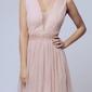 Soky soka  sukienka beż 56005-1