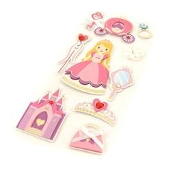 Dziecięce naklejki 3d - księżniczka - 10 sztuk - księżniczka