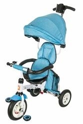 Rowerek trójkołowy - niebieski.  pomowane koła, obracane siedzisko