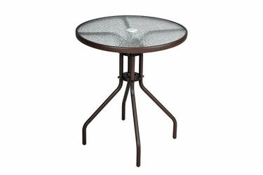 Stół ogrodowy tarasowy balkonowy 60x72 cm szklany