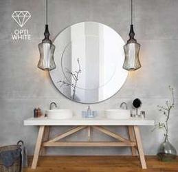 Gieradesign :: lustro łazienkowe modern line opti white okrągłe śr. 90