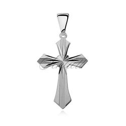 Srebrny pr.925 krzyżyk diamentowany