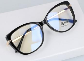Okulary do komputera damskie z filtrem blue light zerówki 2549
