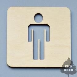 Drewniana tabliczka mężczyzna 9x9,5 cm - MĘŻ