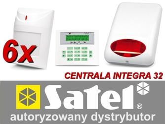 Zestaw alarmowy satel integra 32, klawiatura lcd, 6 czujników ruchu, sygnalizator zewnętrzny spl-5010 - możliwość montażu - zadzwoń: 34 333 57 04 - 37 sklepów w całej polsce