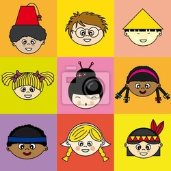 Obraz niños de diferentes etnias