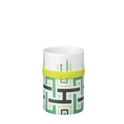 Kubek ring mug green geometric