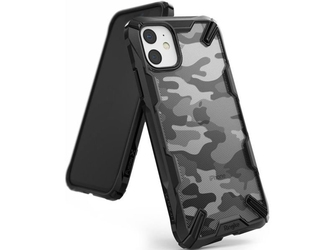 Etui ringke fusion x do apple iphone 11 camo black + szkło alogy