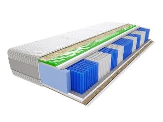 Materac kieszeniowy hinti trawa multipocket visco molet 120x160 cm morska średnio  twardy profilowane visco memory
