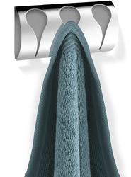 Wieszak łazienkowy na trzy ręczniki genio zack polerowany 40237