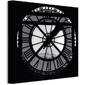 Clock face, paris - obraz na płótnie