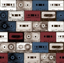 Tapeta kasety magnetofonowe hashtag 11031 retro