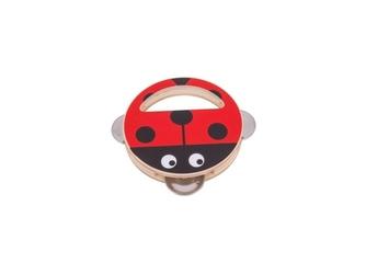 Biedronka drewniany mini tamburyn