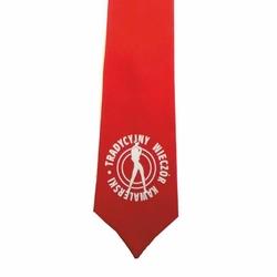 Krawat - Wieczór Kawalerski - Czerwony