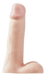 Dildo realistyczne - pipedream basix rubber works 8 dong naturalny