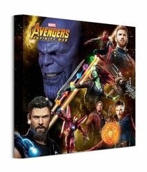 Avengers: Infinity War Space Montage - obraz na płótnie