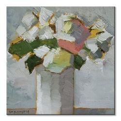 White floral - obraz na płótnie