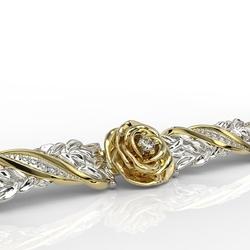 Bransoleta z żółtego i białego złota z diamentami apbr-95zb
