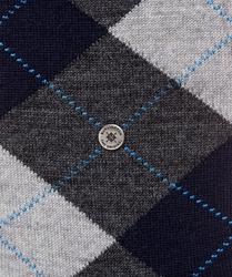 Stylowe skarpety burlington edinburgh w odcieniach szarości we wzór argyle rozmiar 40-46