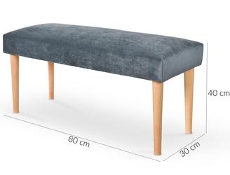 Ławka tapicerowana flexo szarabuk welurowa